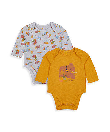 Mothercare Wooly Mammoth Bodysuits - 2 Pack