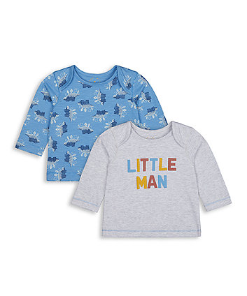 Mothercare Little Man Tops - 2 Pack
