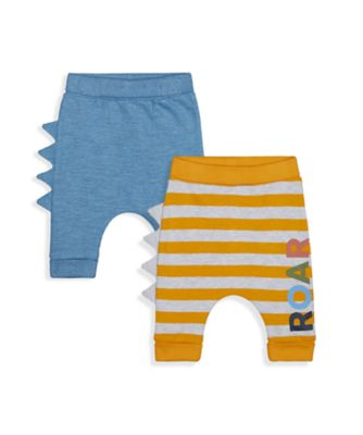 Mothercare Autumn Dino Roar Joggers - 2 Pack
