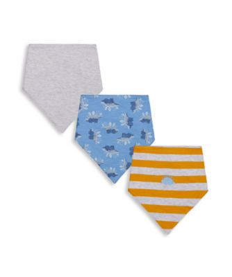 Mothercare Autumn Dino Bibs - 3 Pack