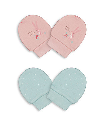 Mothercare Harvest Mouse Mitts - 2 Pack
