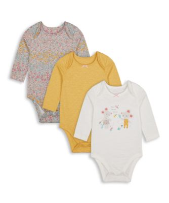 Mothercare Harvest Mouse Graphic Print Long Sleeve Bodysuit