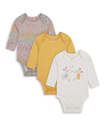 Mothercare Little Mouse Bodysuits - 3 Pack