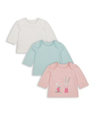 Mothercare Harvest Mouse Bunny Long Sleeve T-Shirt - 3 Pack