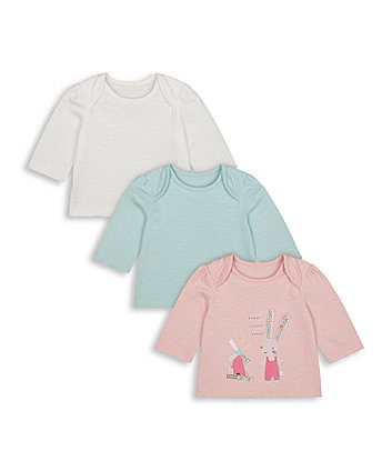 Mothercare Little Bunny Tops - 3 Pack