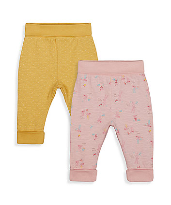 Mothercare Baby Bunny And Yellowl Joggers - 2 Pack