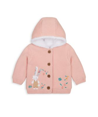 Mothercare Harvest Mouse Bunny Borg Knit Cardigan