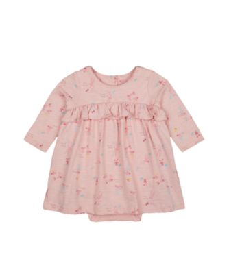 Mothercare Harvest Mouse Pink Allover Print Romper Dress