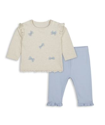 Mothercare Girls Little Swan Butterfly T-Shirt And Legging - 2 Pieces Set