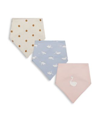 Mothercare Girls Little Swan Bibs - 3 Pack