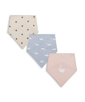 Mothercare Swan Bandana Bibs - 3 Pack