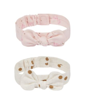 Mothercare Girls Little Swan Bow Headbands - 2 Pack