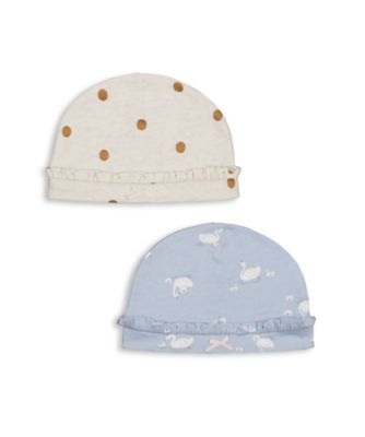Mothercare Girls Little Swan Hats - 2 Pack