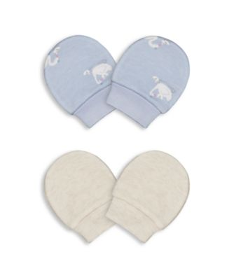 Mothercare Girls Little Swan Mitts - 2 Pack