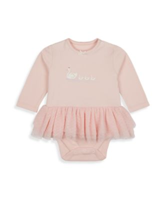 Mothercare Girls Little Swan Long Sleeve Tutu Bodysuit
