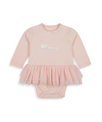 Mothercare Girls Little Swan Long Sleeve Tutu Bodysuit