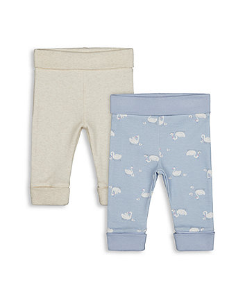 Mothercare Swan And Oatmeal Joggers - 2 Pack