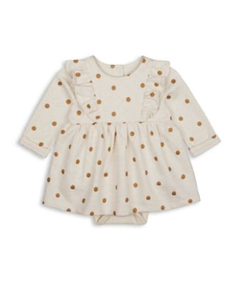 Mothercare Girls Little Swan Foil Spot Romper Dress
