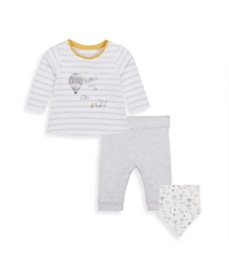 Mothercare Hot Air Balloon Bibshort, Top And Jogger - 3 Piece Set