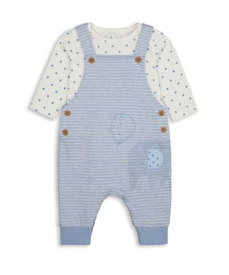 Mothercare My First Boy Loopback Elephant Dungaree Set