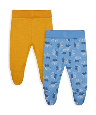 Mothercare Autumn Dino Legging with Feetcover - 2 Pack