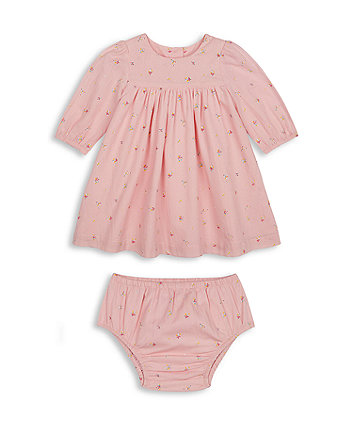 Mothercare Pink Floral Dress And Knickers