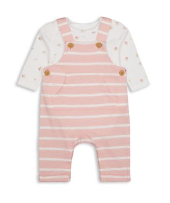 Mothercare Harvest Mouse Pink Stripe Dungaree Set