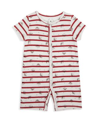 Mothercare Boys Monkey Red Stripe Monkey Romper