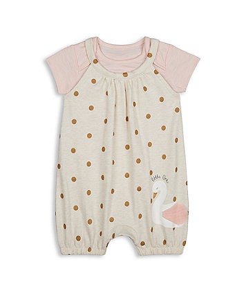 Mothercare Swan Romper And Bodysuit Set