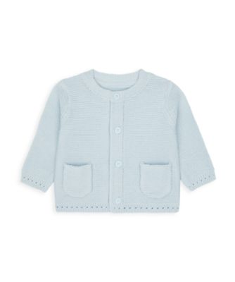 Mothercare My First Boy Purl Knit Cardigan