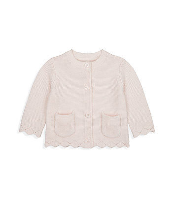 Mothercare My First Pink Knitted Cardigan