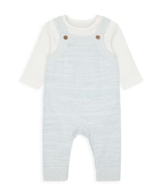 Mothercare My First Boy - Safari Knitted Dungaree Set