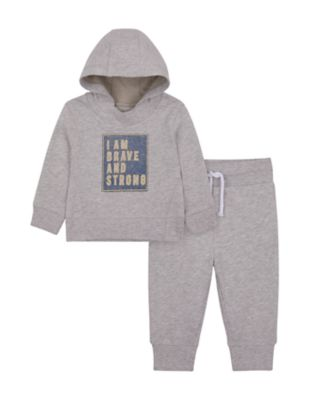 Mothercare City Explorer G Marl Glowid Hoody And Jogger Set