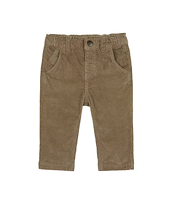 Mothercare Khaki Cord Trousers