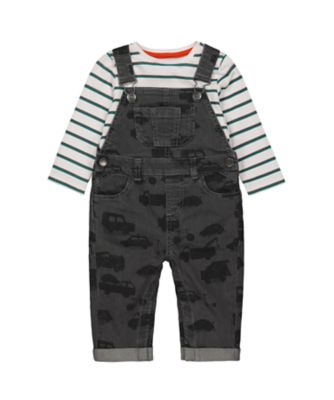 Mothercare Street Smart Dungaree And Long Sleeve T-Shirt