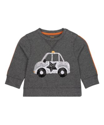 Mothercare Street Smart Charcoal Sequin Long Sleeve Sweater