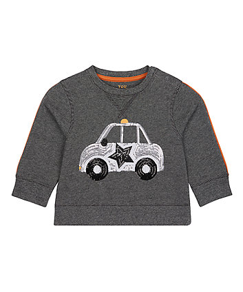 Mothercare Sequin Car Sweat Top
