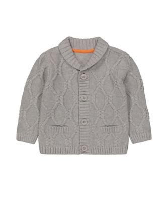 Mothercare Street Smart Grey Cable Knit Cardigan
