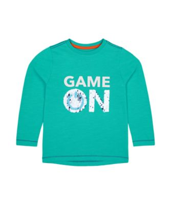 Mothercare Space Arcade Aqua Game On Long Sleeve Sequin