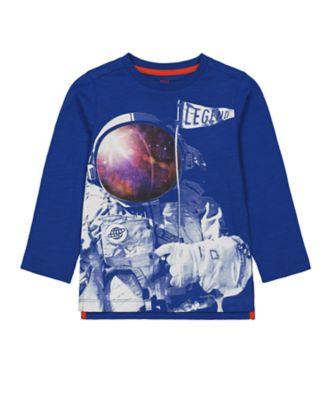 Mothercare Space Arcade Blue Astronaut Long Sleeve T-Shirt