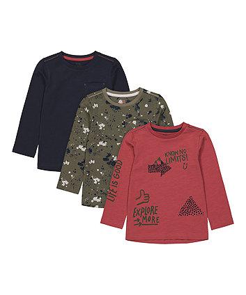 Mothecare Fashion Explore More T-Shirts - 3 Pack