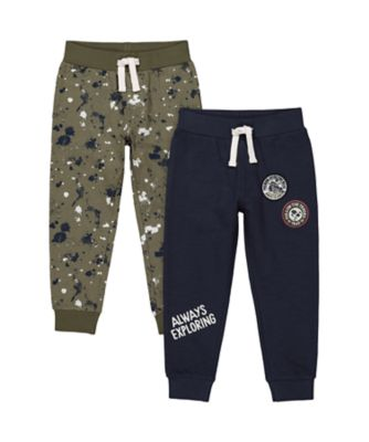 Mothercare Dusty Denim Badges And Paint Jogger - 2 Pack