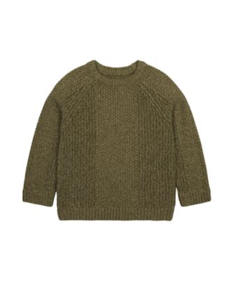 Mothercare Dusty Denim Khaki Great Times Knitted Sweater Top