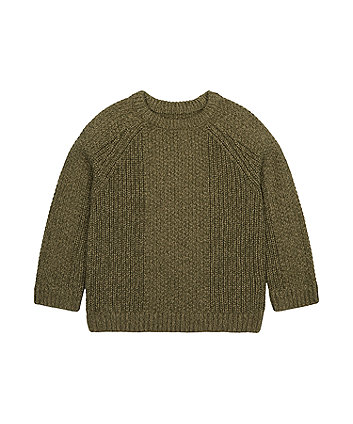 Mothercare Khaki Knitted Jumper