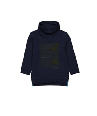 Mothercare Dusty Denim Navy Longline Cowneck Sweater Top