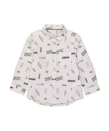 Mothercare Fashion White Seersucker Shirt