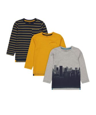 Mothercare Millenium Street Long Sleeve T-Shirt - 3 Pack
