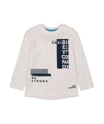 Mothercare Millenium Street White Beyong Nep Long Sleeve T-Shirt