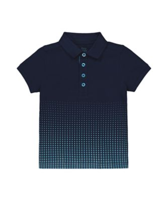 Mothercare Millenium Street Navy Block Ombre Polo T-Shirt