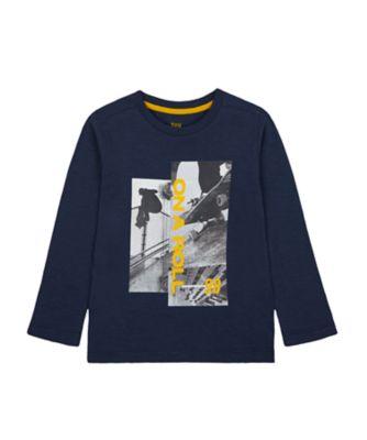 Mothercare Millenium Street Navy Skate EPP Long Sleeve T-Shirt